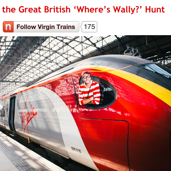 Virgin train newsroom